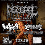 DISGORGE (Mexico), NATRON (Italy) & SACRAMENTAL BLOOD (Serbia) + support