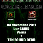 HATEBOMB + COCKLUSH Live @ Bar Grind