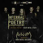 Infernal Poetry (Italy) + Abaddon (Bulgaria) Live @ Club Smile (06.11.2013)