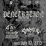 PENETRATION (USA) + DAY OF EXECUTION (BG) + CONCRETE (BG) Live @ club Smile (02.07.2013)